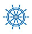 emblem of ship wheel vector image