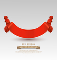 festive red ribbon isolated on a gray backgroundvs vector image