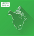 north america linear map icon business vector image