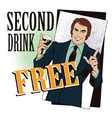 People in retro style Man offering drink alcohol vector image