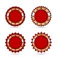 Vintage Red Labels template set vector image