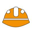 yellow helmet design vector image