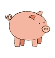 pink piggy save money bank vector image
