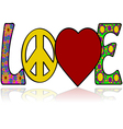 Love in the Sixties vector image