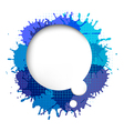 Speech Bubble With Blue Blob vector image
