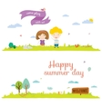 banners for tourism or camp vector image