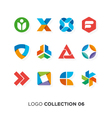logo collection 6 vector image vector image