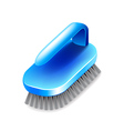 Cleaning brush isolated on white vector image vector image
