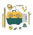 Goods for dog vector image