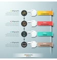 Business hands teamwork infographics template vector image
