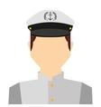captain sailor man icon vector image