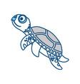 cute marine turtle vector image