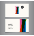 I business card vector image