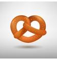 Realistic tasty pretzel vector image