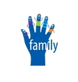logo hand vector image