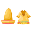 Shirt and hat isolated on white background vector image