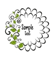 decorative leaf vector image vector image