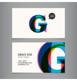 Business card template letter G vector image vector image