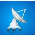 color satellite uplink dish antenna vector image