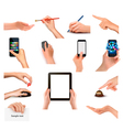 business peoples hands vector image