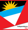 antigua and barbuda independence day vector image