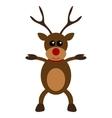 Christmas deer character flat design vector image
