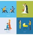 Creating a family Meeting wedding pregnancy vector image