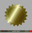 Golden Label vector image