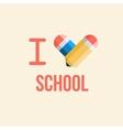 i love school back to school vector image