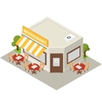 isometric restaurant cafe building icon vector image