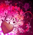 Wild heart vector image