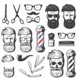 Vintage Barber Elements Set vector image vector image