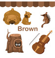 isolated color brown group vector image vector image