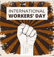 international workers day vector image vector image