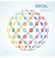 social media element icon sheme globe worldwide vector image