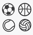 Ball icons set vector image vector image