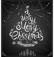 christmas chalkboard card vector image