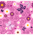 floral butterfly pattern vector image vector image