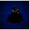 Halloween castle at night vector image
