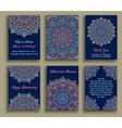 Greeting Cards Blue Luxury vector image