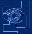 iris recognition biometric identification vector image