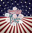 Retro Labor day design vector image