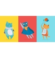 Three flat cute cats vector image