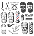 Vintage Barber Elements Set vector image