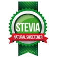 Stevia - Natural Sweetener ribbon vector image