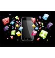Global smartphone apps icons splash vector image