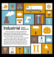 industrial elements template vector image