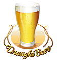 Draught beer label vector image