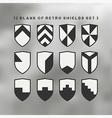 Set of shields black and white 3 vector image