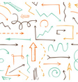 Seamless pattern of sketchy arrows vector image